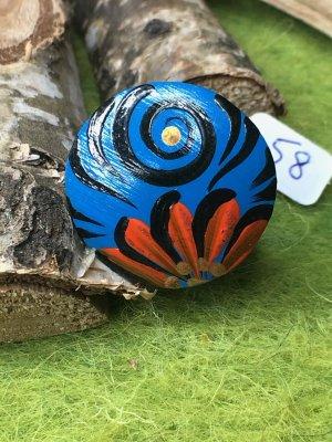 Handmade Anello di fidanzamento multicolore Legno