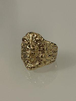 ring löwenkopf in gold 18 mm statementring