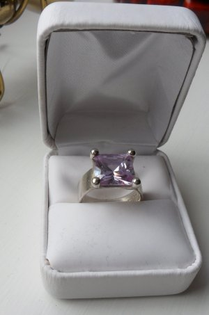 Silver Ring lilac real silver