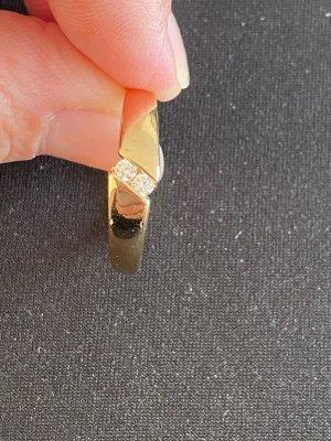 Ring mit 2 Steinen 62