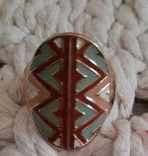 Unbekannte Marke Statement Ring multicolored