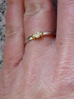 Ring mit kleine Diamant !750 gold !