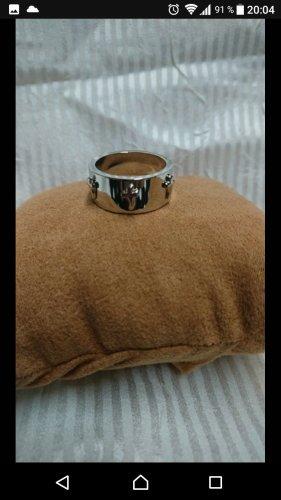 Ring mit Kreuz silber Imitat