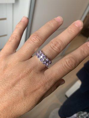 Srebrny pierścionek srebrny-jasny fiolet