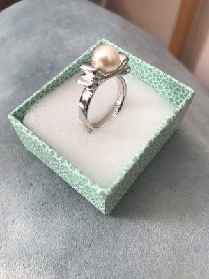 Pierre Lang Srebrny pierścionek srebrny-w kolorze białej wełny