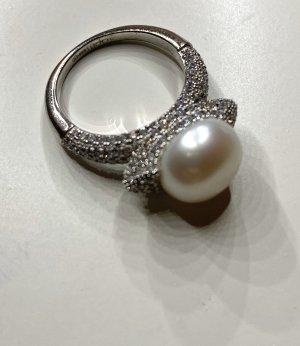 apm Monaco Silver Ring silver-colored-white