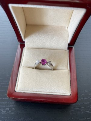 Gouden ring wit-rood