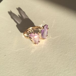 Gold Ring gold-colored-purple