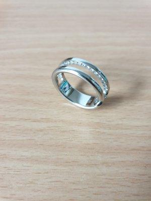 Ring mit Swarovski® Kristallen auf der Innenseite, Größe 20