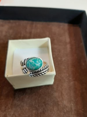 Ring mit türkisem Stein 925 Silber Gr.57