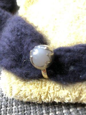 Srebrny pierścionek złoto-biały