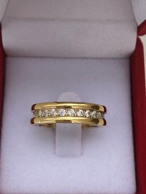 Ring Neu mit Verpackung Goldfarbe