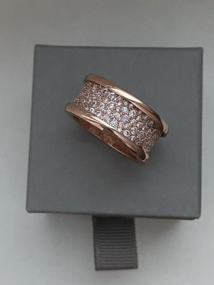 Ring NEU mit Verpackung Roségold Farbe Edel*stahl Größe 20