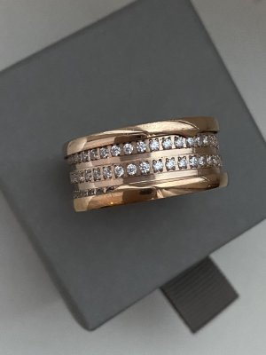 Ring Neu mit Verpackung Roségold Farbe Ringgröße 21mm Edel*stahl