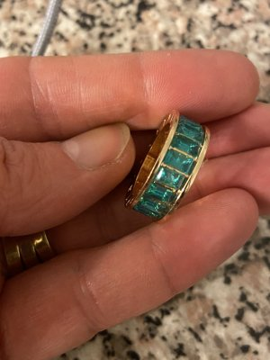 Statement Ring gold-colored-green