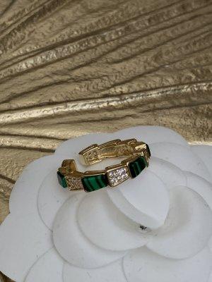 Ring neu ungetragen 1,6cm Innen-Durchmesser gold grün malachite