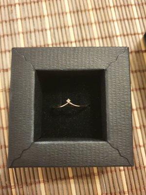 New One Złoty pierścionek w kolorze różowego złota