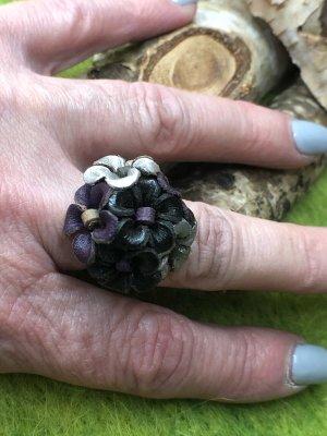 Handmade Anello di fidanzamento multicolore Pelle