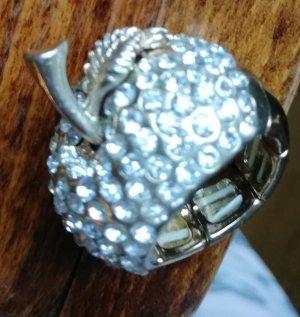 Bijou Brigitte Zdobiony pierścionek złoto