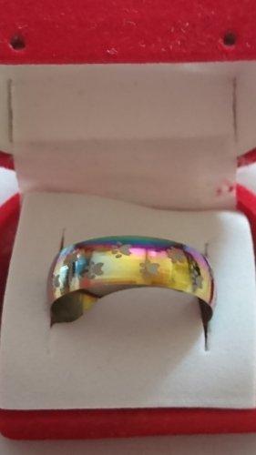 Ring Regenbogen Reinbow mit Pfoten Gr.22