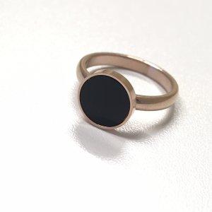 Gouden ring roségoud-zwart