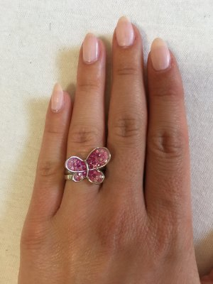 Statement Ring silver-colored-pink