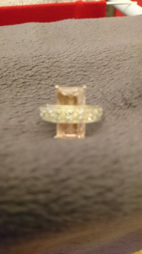 Anello d'argento argento-color oro rosa