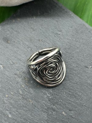 Handmade Silver Ring silver-colored