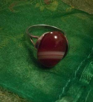 Ring silber 925 mit wunderschönes Achatstein  18 mm