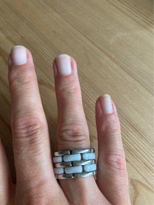 Boccia Anello di fidanzamento bianco-argento