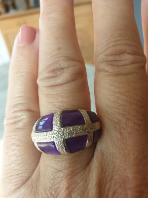 Statement Ring silver-colored-lilac