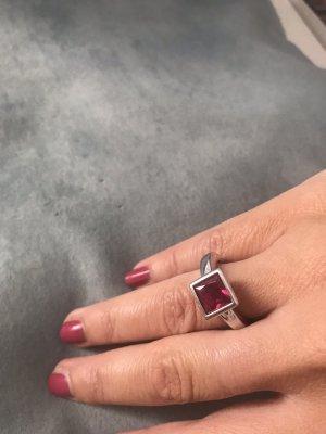 Ring Silber / pink