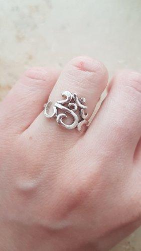 Ring silberfarben / Zahlen / Boho Vintage