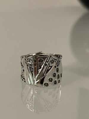 ring statementring in silber kartenspiel 19 mm