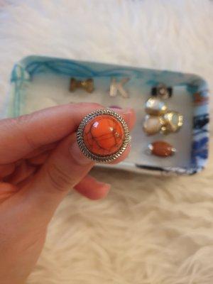 Ring Statementring orange kreisförmig H&M