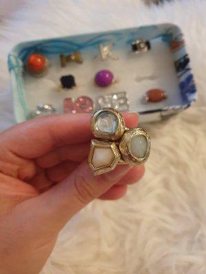 H&M Zdobiony pierścionek Wielokolorowy