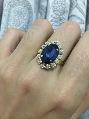 Gold Ring blue