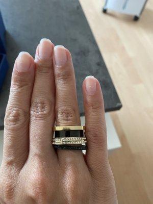 Swarovski Gouden ring zwart-goud