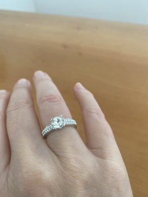 Swarovski Gouden ring zilver