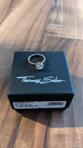 Thomas Sabo Anillo de plata color rosa dorado