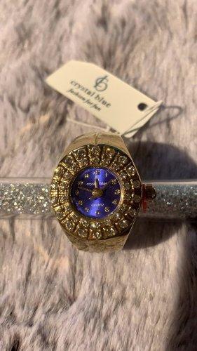 Ring Uhr mit Swarovski Steinen