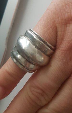 UNO de 50 Anillo de plata color plata