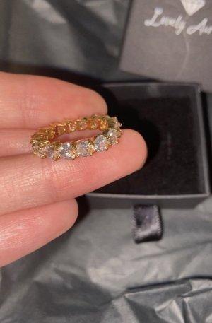 Lovely Aurora Złoty pierścionek srebrny-złoto