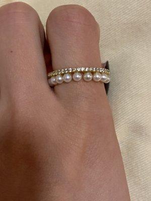 apm Monaco Gold Ring gold-colored-white