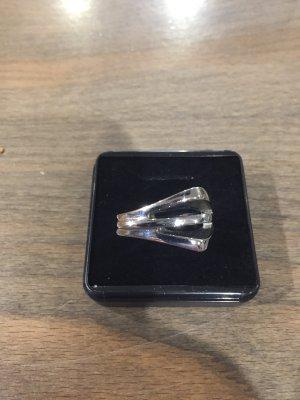 Fossil Bague incrustée de pierres argenté