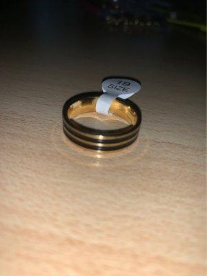 Ring von JP Schmuck schwarz Gold unisex Grösse 19  zeitlos