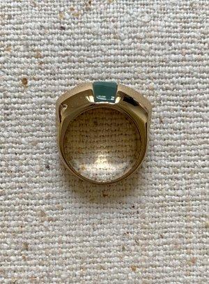 Ring von & Other Stories Vintage Look Gold mit grünem Stein 60er Jahre Stil