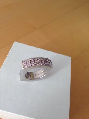 Pierre Cardin Anillo de plata rosa claro