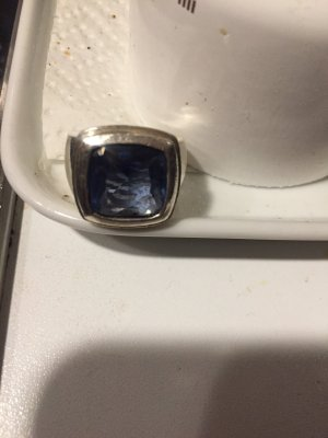 Ring von Sabo aus massivem Silber mit geschliffenem Aquamarinstein