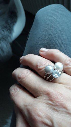 Ringe, 3er, Perle